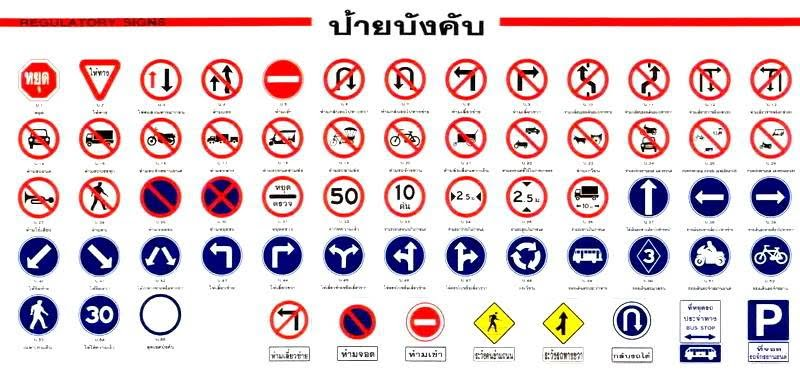 What are the traffic signs that need to be known?